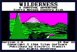 In game image of Wilderness: A Survival Adventure on the Apple II.