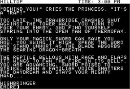 In game image of Wishbringer on the Apple II.