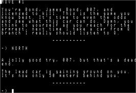 In game image of Word Spinner on the Apple II.