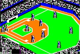 In game image of World's Greatest Baseball Game on the Apple II.