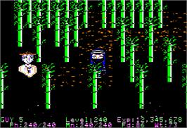 In game image of Zombies on the Apple II.