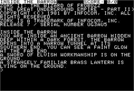 In game image of Zork II: The Wizard of Frobozz on the Apple II.