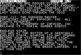 In game image of Zork III: The Dungeon Master on the Apple II.