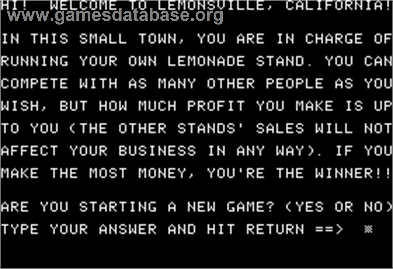 lemonade stand game apple ii - photo #7
