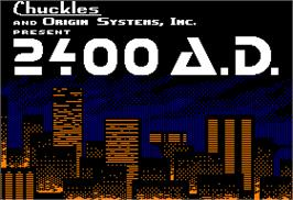 Title screen of 2400 A.D. on the Apple II.