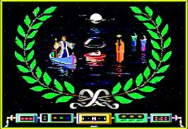 Title screen of Airheart on the Apple II.