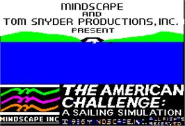 Title screen of American Challenge: A Sailing Simulation on the Apple II.
