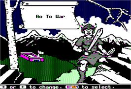 Title screen of Ancient Art of War on the Apple II.