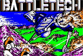 Title screen of Battletech: The Crescent Hawk's Inception on the Apple II.