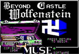 Title screen of Beyond Castle Wolfenstein on the Apple II.