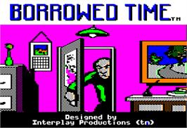 Title screen of Borrowed Time on the Apple II.