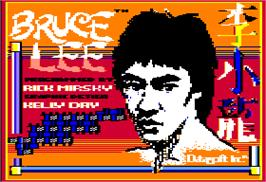 Title screen of Bruce Lee on the Apple II.