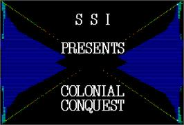 Title screen of Colonial Conquest on the Apple II.