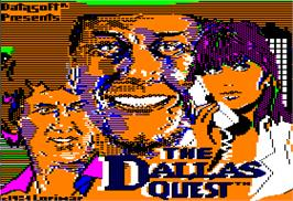 Title screen of Dallas Quest on the Apple II.