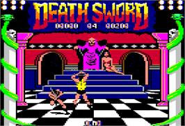 Title screen of Death Sword on the Apple II.
