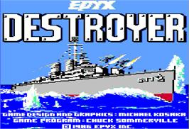 Title screen of Destroyer on the Apple II.