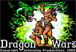 Title screen of Dragon's Keep on the Apple II.