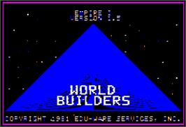 Title screen of Empire I: World Builders on the Apple II.