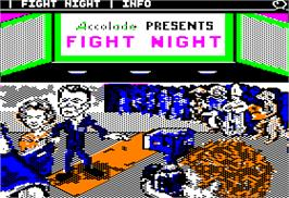 Title screen of Fight Night on the Apple II.