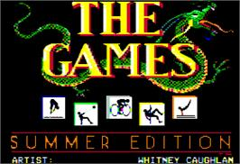 Title screen of Games: Summer Edition on the Apple II.
