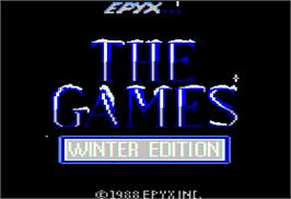 Title screen of Games: Winter Edition on the Apple II.