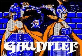 Title screen of Gauntlet on the Apple II.