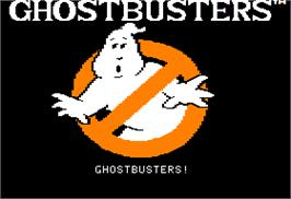 Title screen of Ghostbusters on the Apple II.