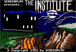Title screen of Institute on the Apple II.