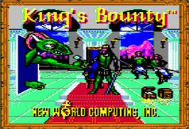 Title screen of King's Bounty on the Apple II.