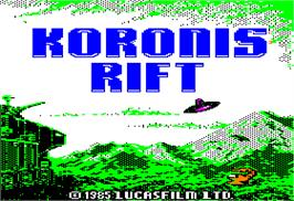 Title screen of Koronis Rift on the Apple II.