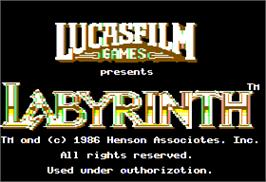 Title screen of Labyrinth on the Apple II.