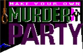 Title screen of Make Your Own Murder Party on the Apple II.