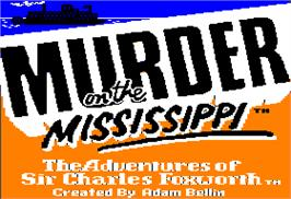 Title screen of Murder on the Mississippi on the Apple II.