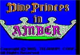 Title screen of Nine Princes in Amber on the Apple II.