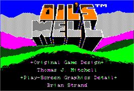 Title screen of Oil's Well on the Apple II.