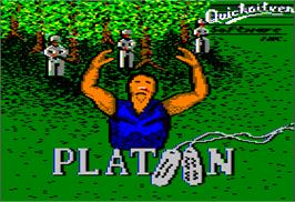 Title screen of Platoon on the Apple II.