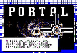 Title screen of Portal on the Apple II.
