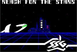 Title screen of Reach for the Stars on the Apple II.