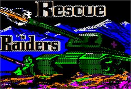 Title screen of Rescue Raiders on the Apple II.