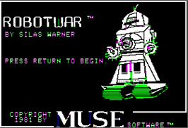 Title screen of Robot War on the Apple II.