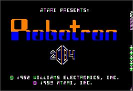 Title screen of Robotron on the Apple II.