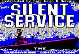 Title screen of Silent Service on the Apple II.
