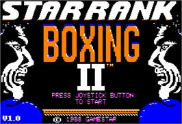 Title screen of Star Rank Boxing 2 on the Apple II.