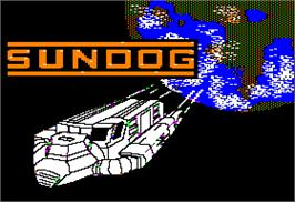 Title screen of SunDog: Frozen Legacy on the Apple II.