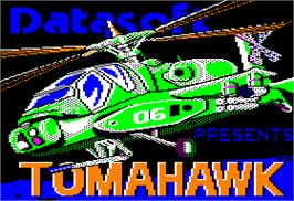 Title screen of Tomahawk on the Apple II.