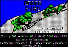 Title screen of Under Fire on the Apple II.