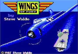 Title screen of Wings of Fury on the Apple II.