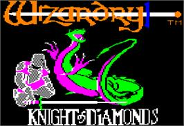 Title screen of Wizardry II: The Knight of Diamonds on the Apple II.