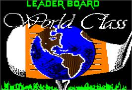Title screen of World Class Leaderboard on the Apple II.