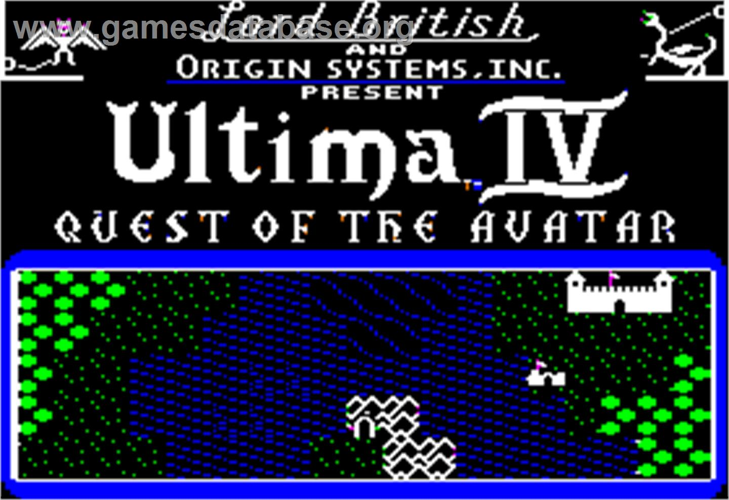 Ultima IV: Quest of the Avatar - Apple II - Artwork - Title Screen